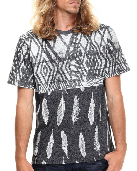 LRG - Men Black Oceanic S/S Knit T-Shirt