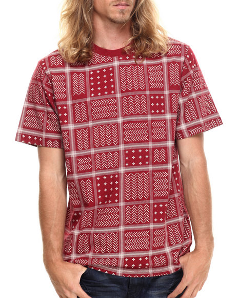 LRG - Men Maroon Rc Ss Knit T-Shirt