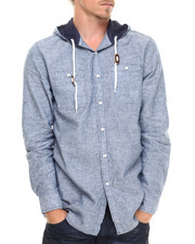 Buyers Picks - Chambray Slub button down hoodie