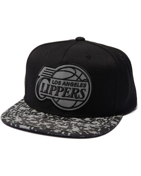 Mitchell & Ness Men Los Angeles Clippers Digi Camo Reflective Visor Black