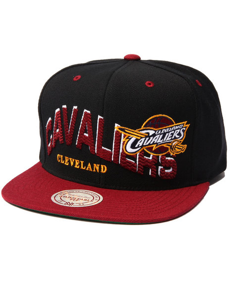 Mitchell & Ness Men Cleveland Cavaliers Throwback The Wave 2-Tone Black