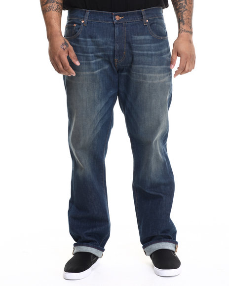 Lrg - Men Medium Wash Core Lrg True Straight Denim Jeans (B&T) - $74.00