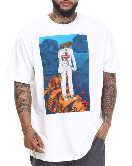 Lrg - Men White A Walk With A Lion T-Shirt (B&T)