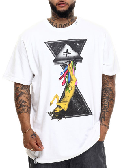 Lrg - Men White Space Drips T-Shirt (B&T)