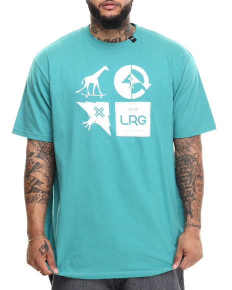 Lrg - Men Green Rc Logo Mash Up T-Shirt (B&T)