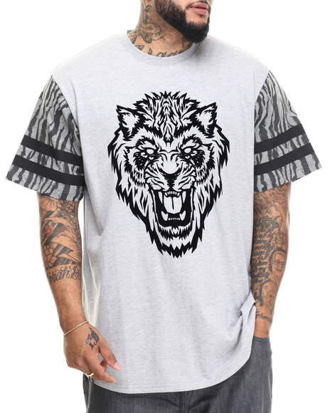 Lrg - Men Grey Dust To Dust Baseball T-Shirt (B&T)