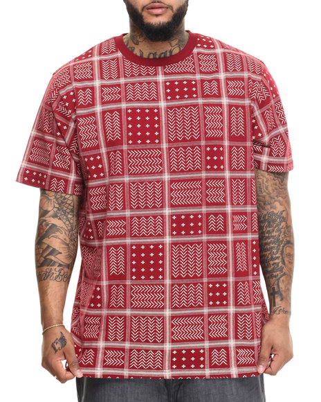 LRG - Men Red Rc Ss Knit T-Shirt (B & T)