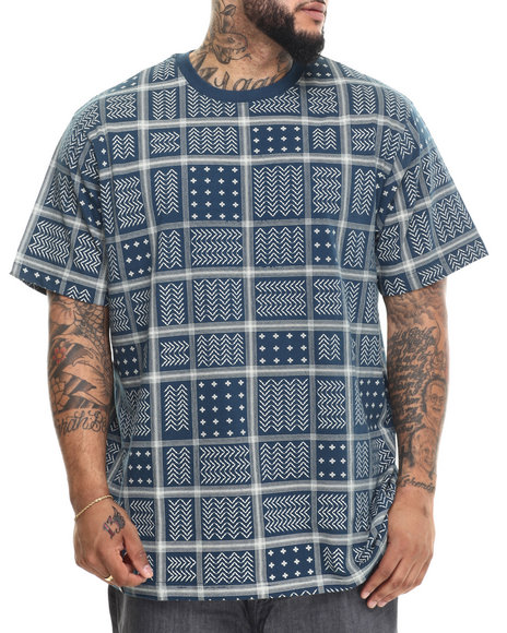 LRG - Men Blue Rc Ss Knit T-Shirt (B & T)