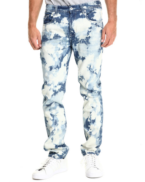 Parish - Men Vintage Wash Bleach Splatter Denim