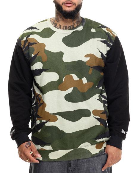Ur-ID 223057 Filthy Dripped - Men Camo Camo Leaves Sweatshirt (Xl)