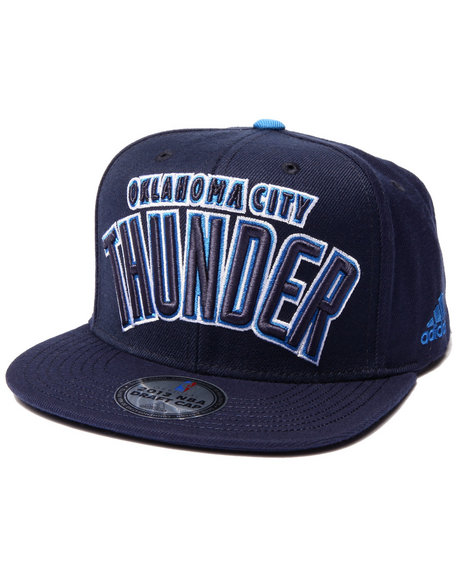 Adidas Men Oklahoma Thunder Team Logo Snapback Hat Blue