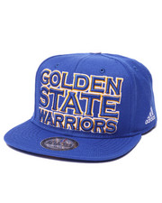 Adidas - Gold State Warriors Team logo Snapback hat