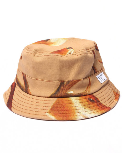 Akomplice - Men Brown Deer Head Bucket Hat