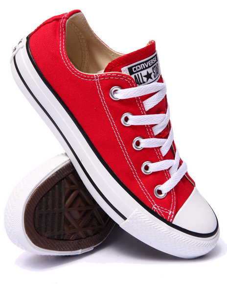 Ur-ID 223077 Converse - Women Red Chuck Taylor All Star Core Ox Sneakers