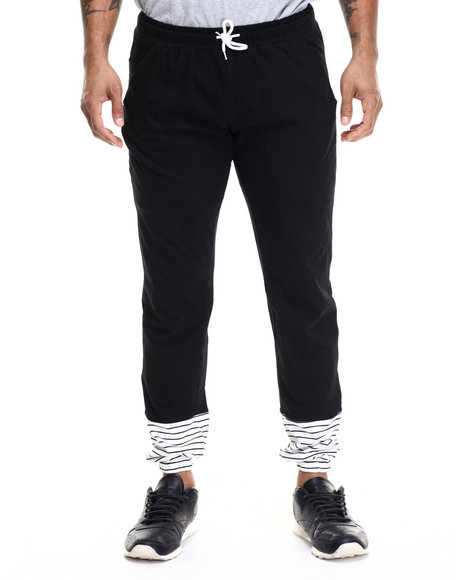 Ur-ID 214926 Akomplice - Men Black Underside Stripes Jogger Pants