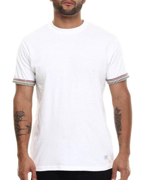Akomplice - Men White Mesopotamia Rolled Sleeve Cuff Shirt - $29.50