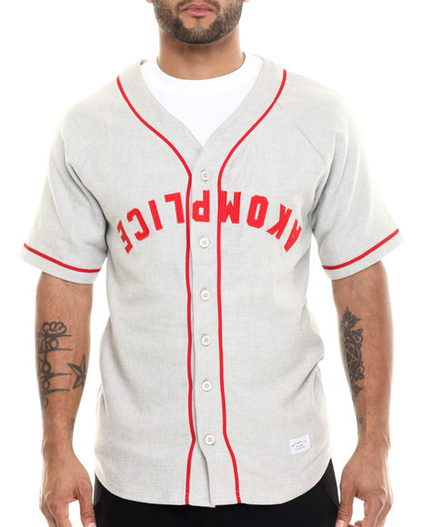 Ur-ID 214931 Akomplice - Men Grey Ak Baseball Jersey