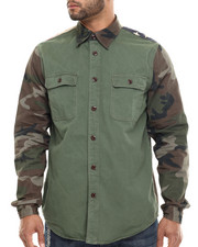 Shirts - Flagged Camo - Sleeved L/S Button-Down