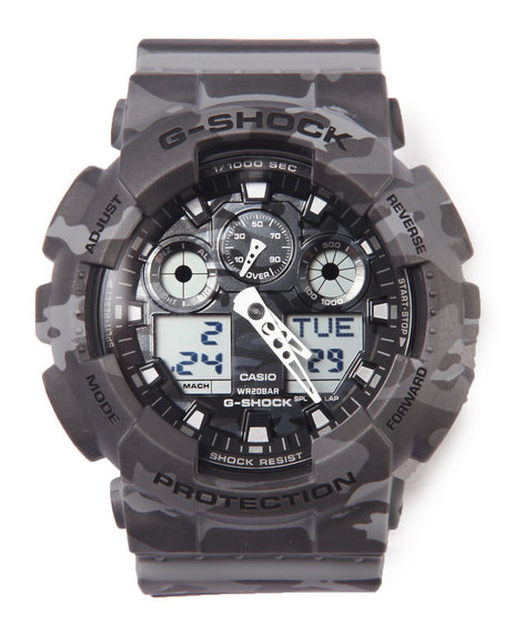 G-Shock By Casio Men Ga-100 Camoflauge Watch Camo - $145.99