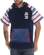 Men - Printed Stripe Hoodie