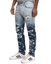 Jeans & Pants - Flood Brush - Wash Denim Jeans