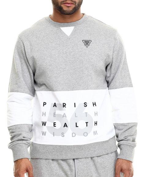 Ur-ID 214932 Parish - Men Grey Colorblock Sweatshirt