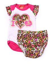 Apple Bottoms - BODYSUIT W/ DIAPER COVER (NEWBORN)