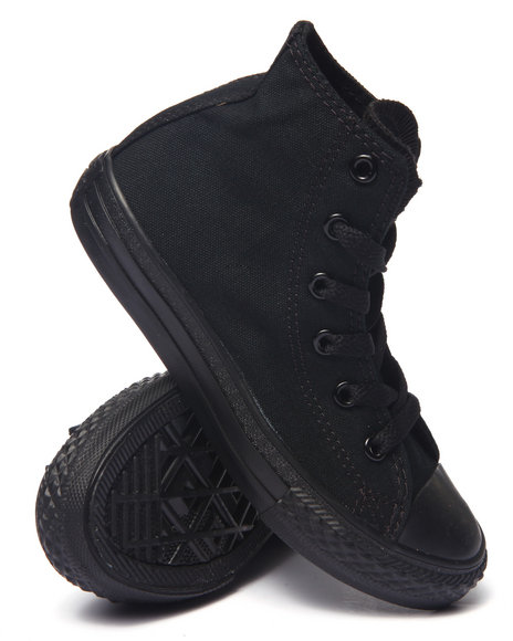 Converse Boys Chuck Taylor All Star Monochrome Sneakers (113) Black 12 Toddler