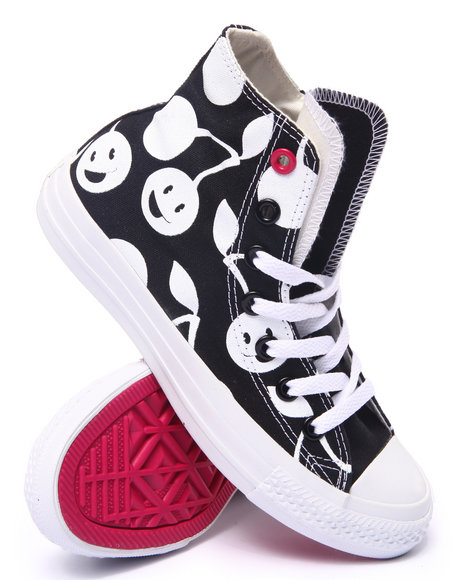 Converse - Women Black Cherry Print Chuck Taylor All Star Hi Sneaker