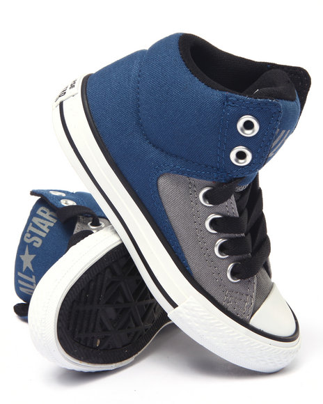 Converse - Boys Grey,Navy Color Plus Chuck Taylor All Star High Street Hi Sneakers (11-3)