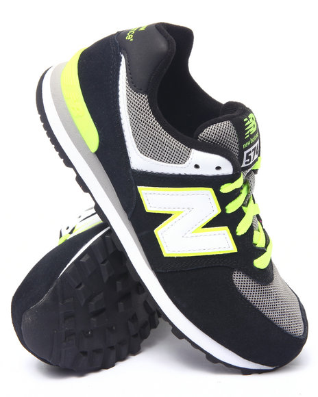 New Balance - Boys Black 574 Sneakers (3.5-7)