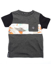 Tops - COCA CAMO POCKET TEE (2T-4T)