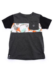 Boys - COCA CAMO POCKET TEE (4-7)