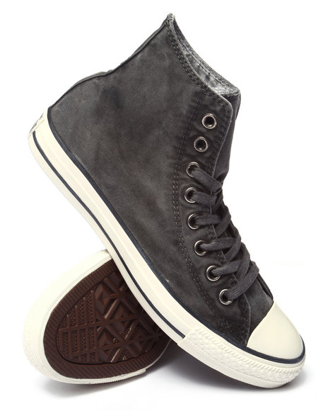 Converse - Men Black Chuck Taylor All Star White Wash Hi