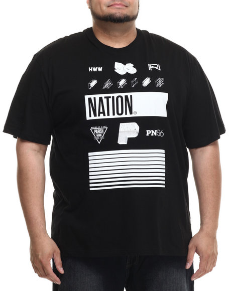 Parish - Men Black Graphic T-Shirt (B&T)