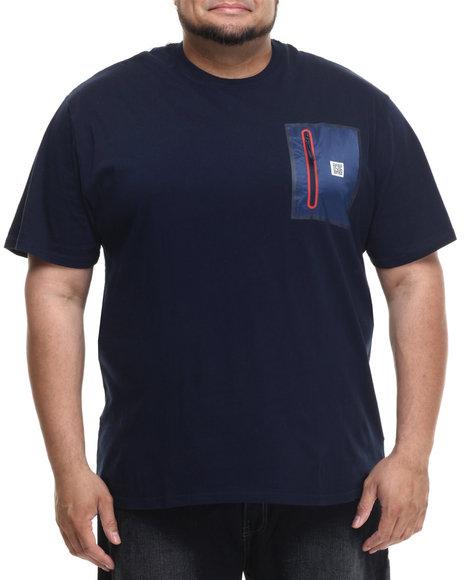 Ur-ID 215052 Parish - Men Navy S/S Nylon T-Shirt (B&T)