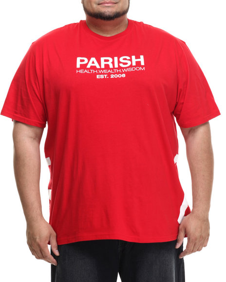 Ur-ID 215053 Parish - Men Red Graphic T-Shirt (B&T)