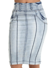 Fashion Lab - Knit Denim Pencil Skirt
