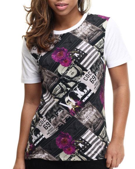 Crooks & Castles - Women Multi Pastiche Tee Shirt
