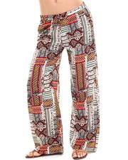 Pants - Scarf Print Pallazzo Print Pant