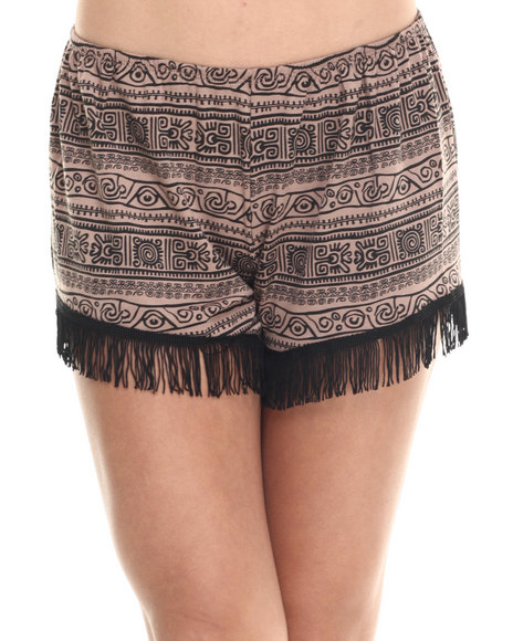 Fashion Lab - Women Brown Tribal Print Short