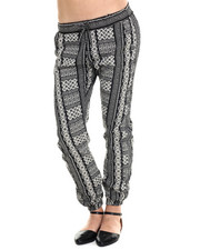 Fashion Lab - Vertical Boho Print Jogger