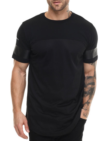 Rocawear Blak - Men Black Mesh Long Tee