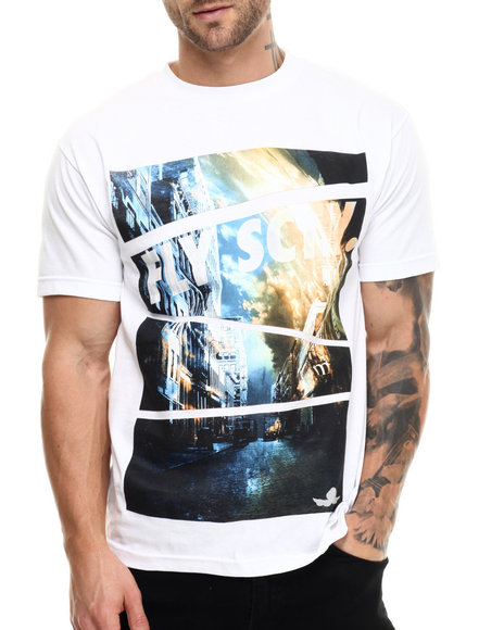 Flysociety - Men White The Downtown T-Shirt