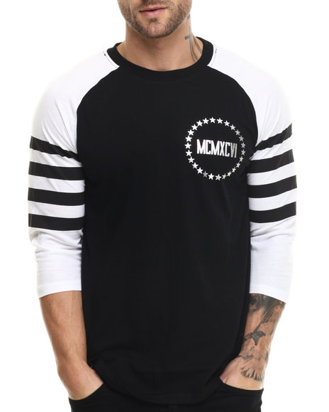 Enyce - Men Black Athen Raglan