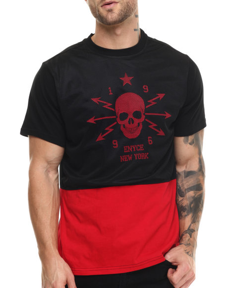 Enyce - Men Red Young V T-Shirt - $14.99