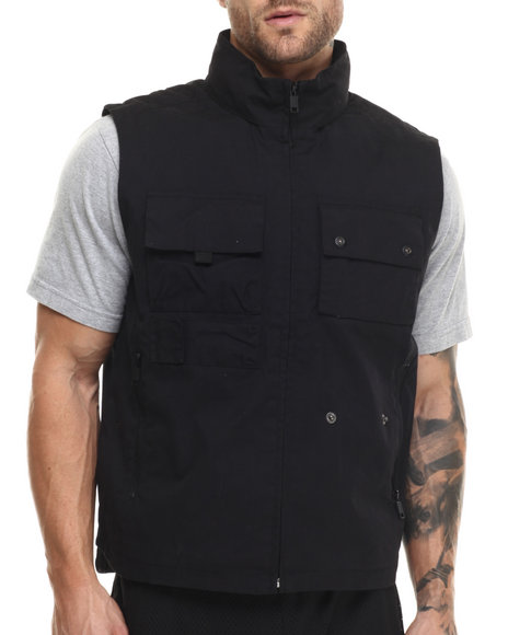 Rocawear Blak - Men Black Tactical Vest