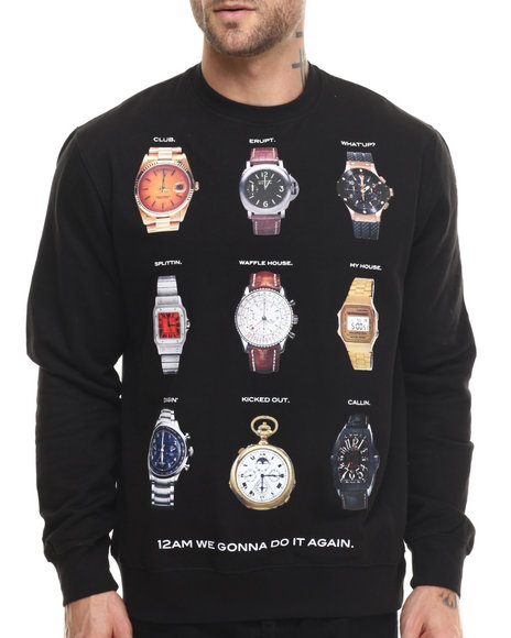 Rocawear - Men Black Watch Alert Sweatshirt