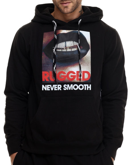 Rocawear - Men Black Rugged Never Smooth Pullover Hoodie - $29.99
