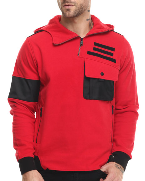 Ur-ID 215198 Rocawear BLAK - Men Red Blak Popover Hoodie